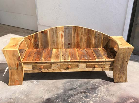 amish made hand crafted benches