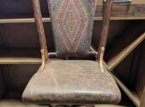 Amish Wood Chair Back Accent