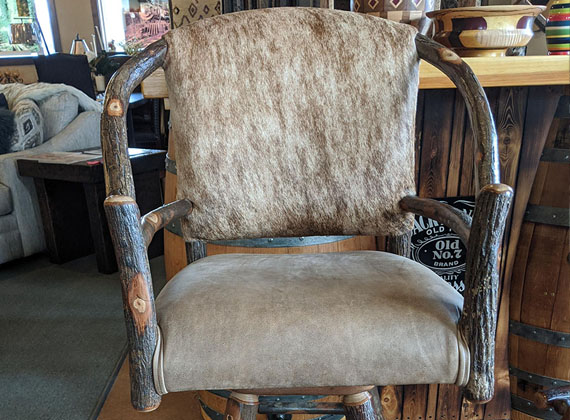 Amish Wood Chair Hide Finish