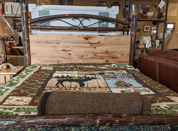 Amish Wood Custom Bed Frame