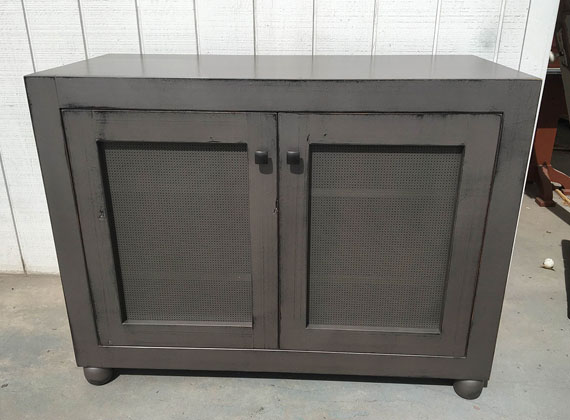 Local Wood Gray Cabinet